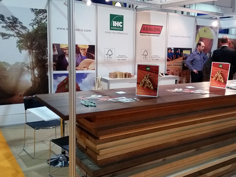 The IHC stand at the Dubai Wood Show